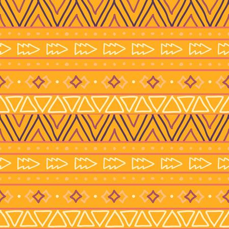 Seamless hand painted geometric ethnic pattern