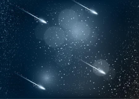 Abstract space background with comets Illustration