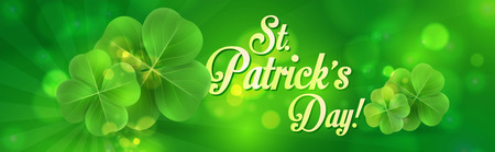 St. Patrick's day banner design.