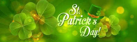 St. Patrick's day banner design. Stock Illustratie