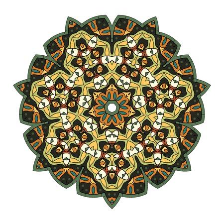 Colorful mandala on a white background