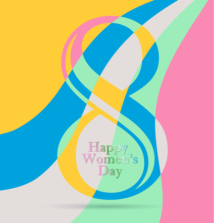 Greeting card dedicated to the international womens day vector illustration