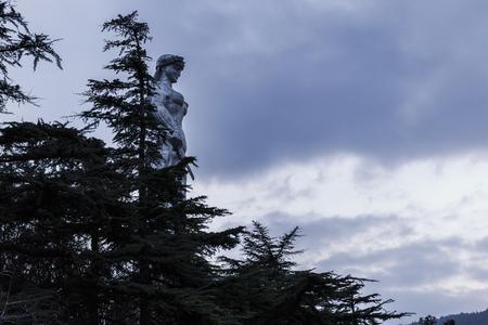 Monument in Tbilisi-Mother-Georgia Stock fotó