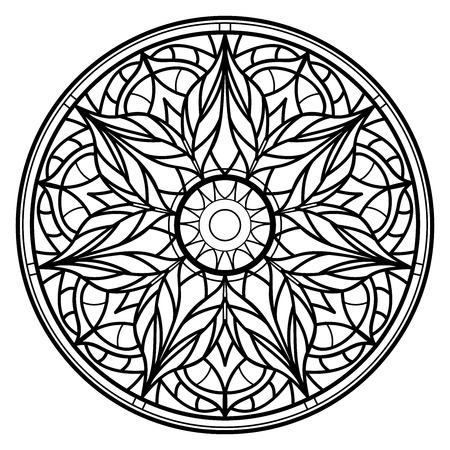 Mandalas for coloring book. Decorative round ornaments. Unusual flower shape. Oriental vector 일러스트