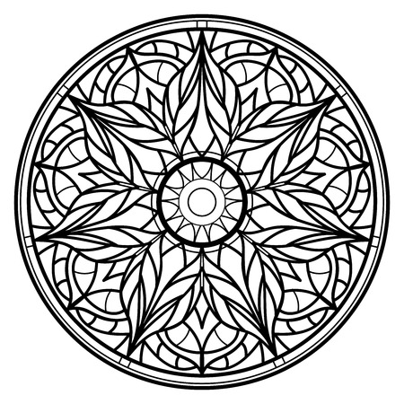 Mandalas for coloring book. Decorative round ornaments. Unusual flower shape. Oriental vector Vettoriali