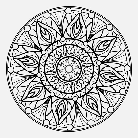 Mandalas for coloring book. Decorative round ornaments. Unusual flower shape. Oriental vector  イラスト・ベクター素材
