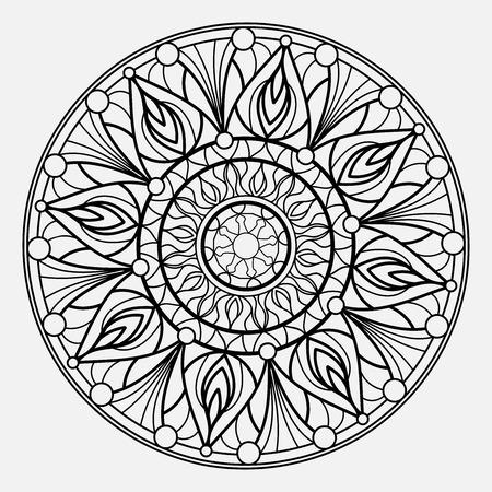 Mandalas for coloring book. Decorative round ornaments. Unusual flower shape. Oriental vector Stock Illustratie