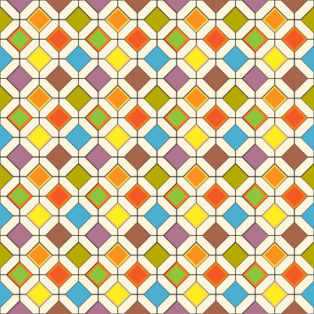 Seamless repeating pattern of multi-colored rhombuses. Vectores