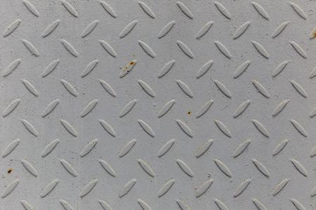 Texture of metal tiles on the floor