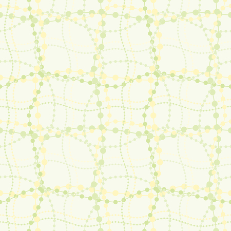Seamless repeating background simulating beads on threads Ilustracja