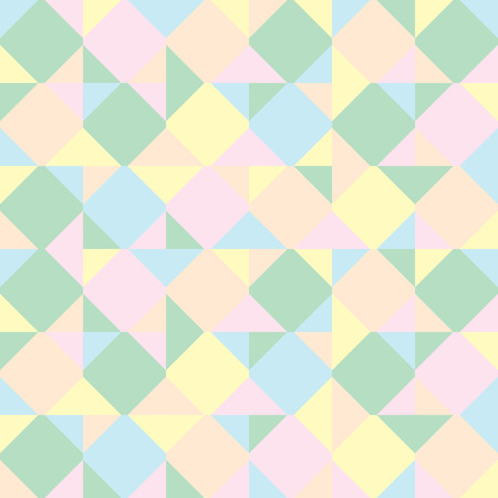 Abstract background consisting of colored squares and triangles Illustration