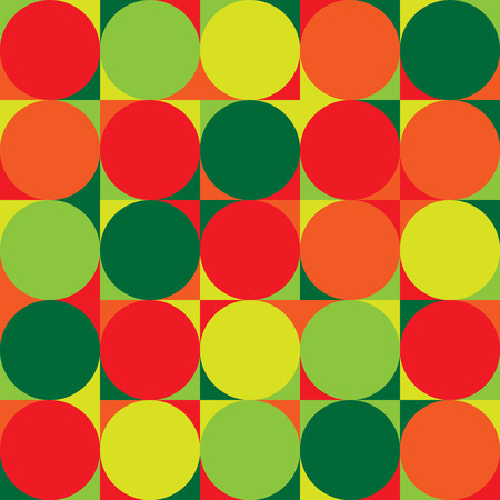 Seamless repeating pattern from circles and other geometric shapes Illustration