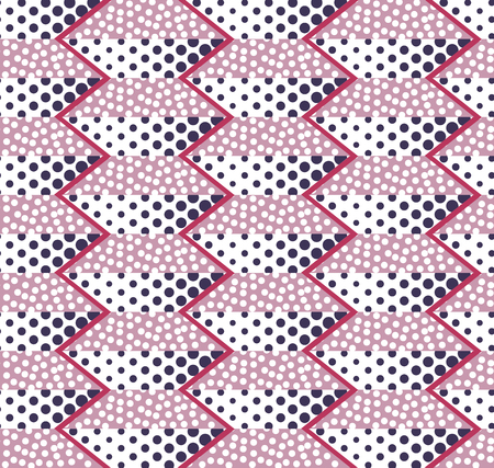 Abstract seamless background of circles, dots and trapezoids Illustration