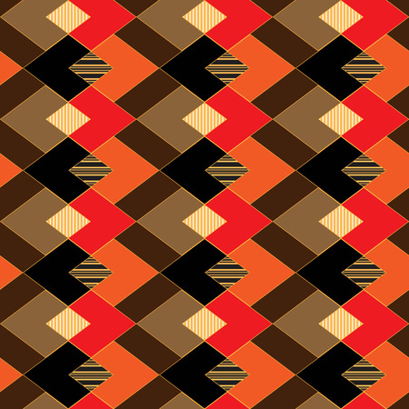 Abstract seamless back background consisting of multi-colored rhombuses and zigzags