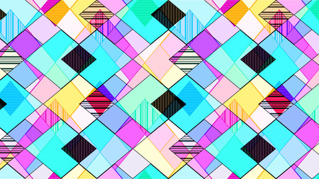 Abstract background consisting of multi-colored rhombuses and zigzags
