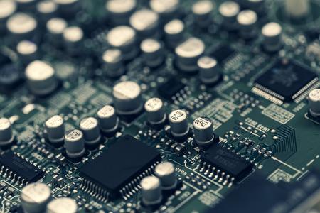 Close-up van elektronisch bord