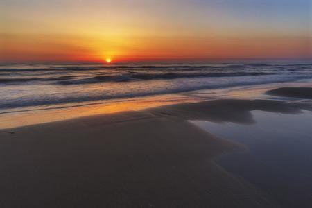 Sunrise on the sea coast