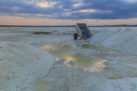 Salt production not far from Baku