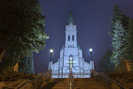 Catholic Church on the main street in Zakopane 写真素材