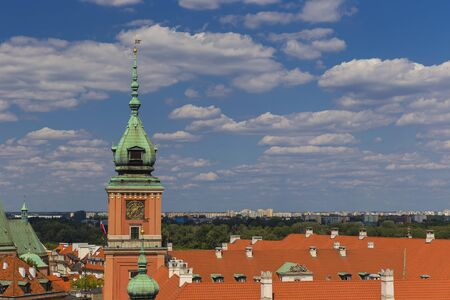Panorama of Krakow from the walls of the Wawel Castle