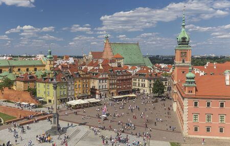 Panorama of the old city in Warsaw Stock Photo