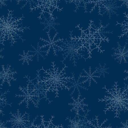 Seamless repeating christmas snowflake background