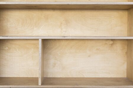 Wooden cabinet with shelves from dict 写真素材