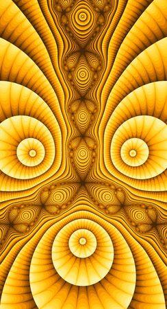 Abstract meditative color fractal background Standard-Bild - 149143036