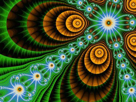 Abstract meditative color fractal background