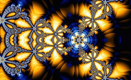 Abstract meditative color fractal background Standard-Bild - 149172428