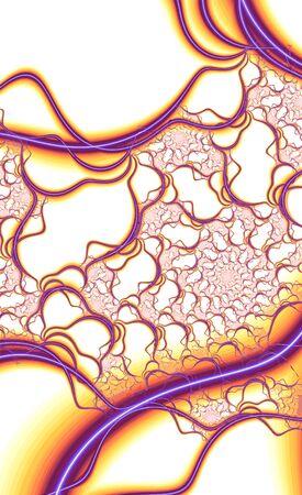 Abstract meditative color fractal background Standard-Bild - 149212100