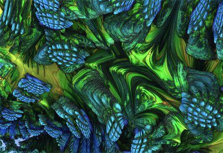 Abstract meditative color fractal background. 3d rendering Stock fotó