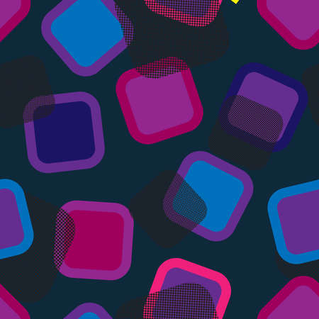 Seamless repeating multicolored squares background