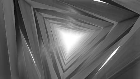 Abstract futuristic corridor. 3d render 免版税图像 - 156648864