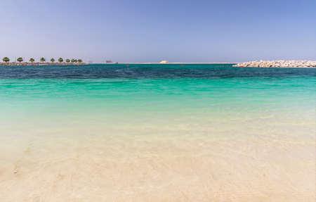 Panorama of Al Mamzar beaches in Dubai