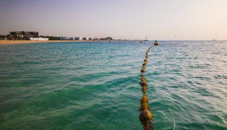 One of the beaches in Dubai