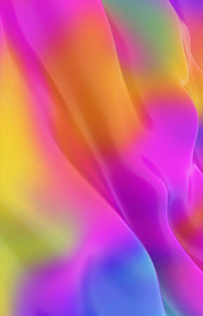 Abstract colored background imitating liquid paint. 3d rendering Imagens