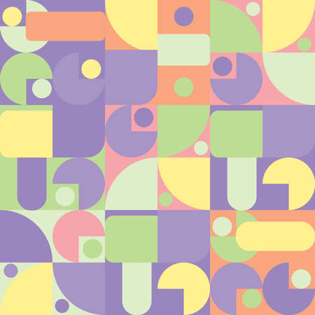 Abstract seamless repeating geometric pattern Ilustração