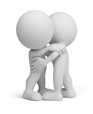 3d gente abraz�ndose unos a otros.