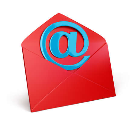 email icons: Envelope icon 3d image.