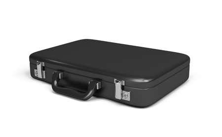 black case. 3d image. Isolated white background.