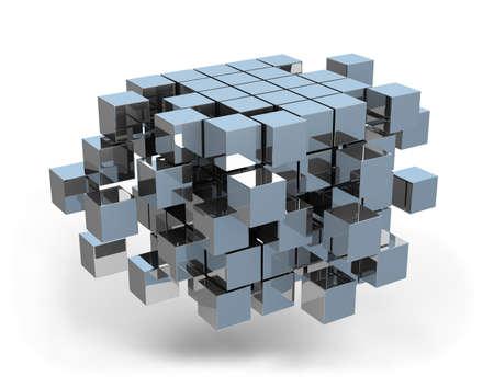 gestion empresarial: Arquitect�nico concepto de negocio de dise�o. Foto de archivo