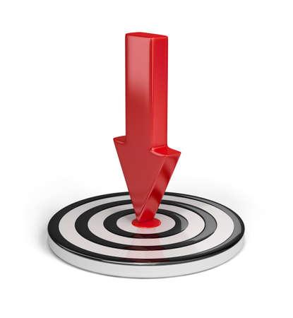 competitividad: El �xito en el logro de los objetivos. Imagen en 3D. Fondo blanco. Foto de archivo