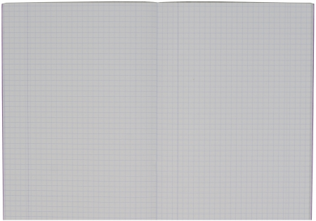 the notebook with checkered sheets - white background