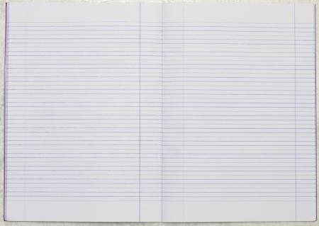 vuota la linea di carta notebook