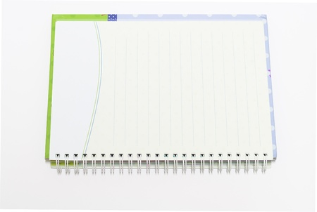 the Notebook background open right  view with a spiral binding Stock Photo - 16730032