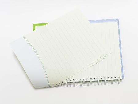 Lo sfondo notebook open view destra con una rilegatura a spirale