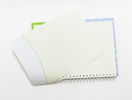 The Notebook background open right  view with a spiral binding Stock Photo - 16730023