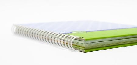 Notebook sfondo Vista aperta con una rilegatura a spirale Archivio Fotografico