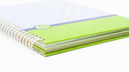 the Notebook background open right  view with a spiral binding Stock Photo - 16730026